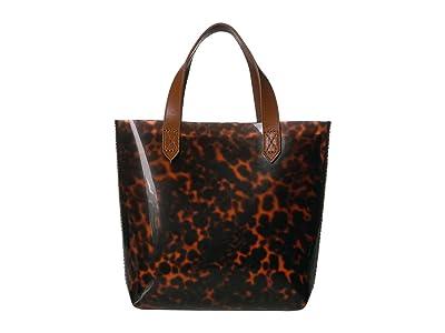 Madewell Mini TPU Transport Tote (Leopard Dark Toffee) Handbags