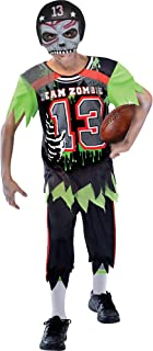 Suit Yourself Zombie Football Player Halloween Costume for Boys, Small, with Mask