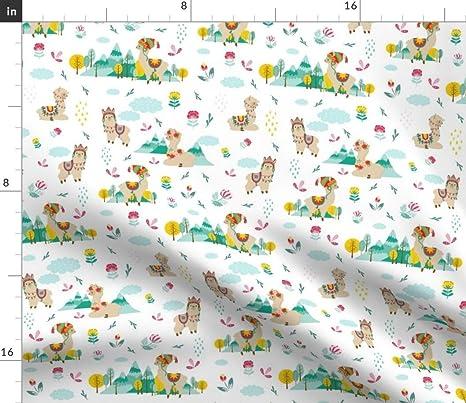 Alpaca cotton Alpaca pattern LIMITED PRINT Llama nursery fabric by the yard Llama decor