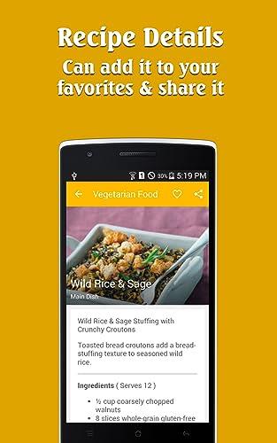 『Vegetarian Food recipes free !!』のトップ画像