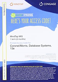 MindTap for Coronel/Morris' Database Systems: Design, Implementation, & Management, 1 term Printed Access Card