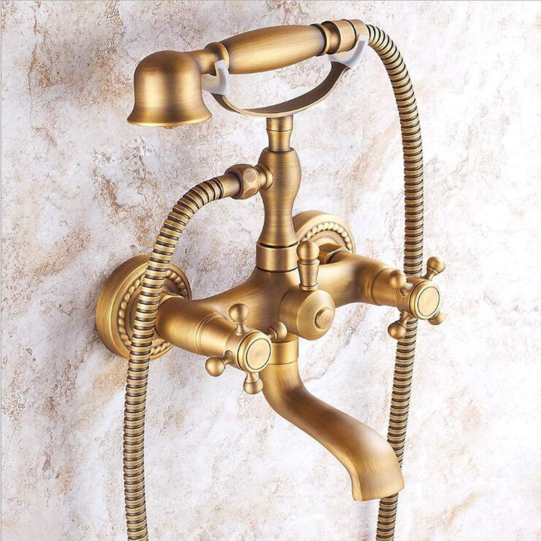 Ddl An der Wand montierte Badewannendusche-Handdusche-Set, Kupfer-Mobile Phone-frmige Hand-gehaltene Duschboster-Dusche, Regendusche-System,XL