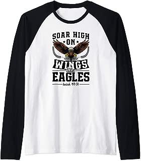 Soar High On Wings Like Eagles Christian Easter Bible Gift Raglan Baseball Tee