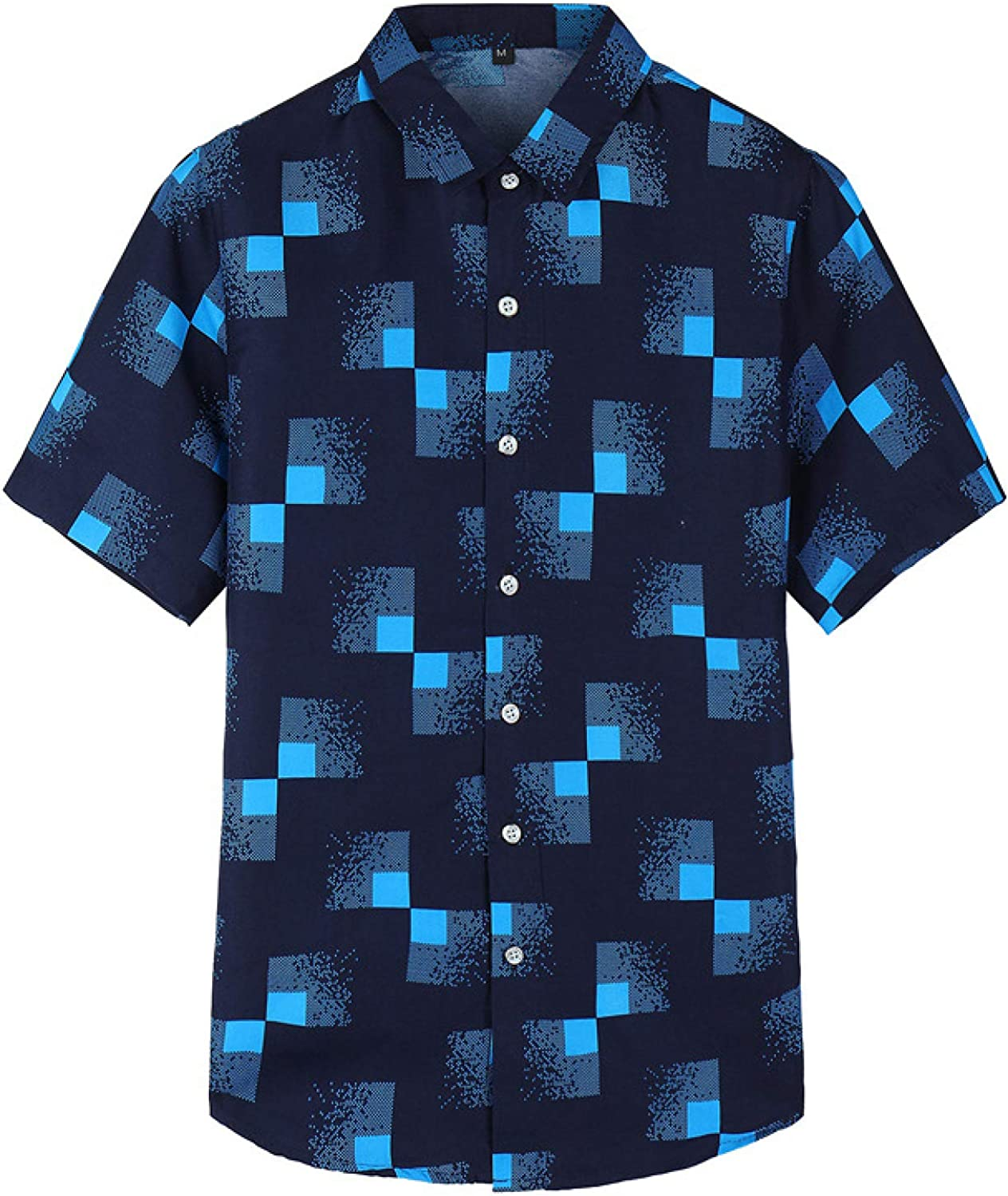 Men's Business Casual Plaid Short-Sleeved Shirt Ma Challenge the depot lowest price of Japan Fashion Color