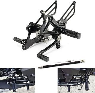 MZS Rearsets Adjustable Footrests Footpegs CNC Rear Sets compatible Honda CBR250R CBR300R 2011 2012 2013 2014 2015 2016 2017 Black