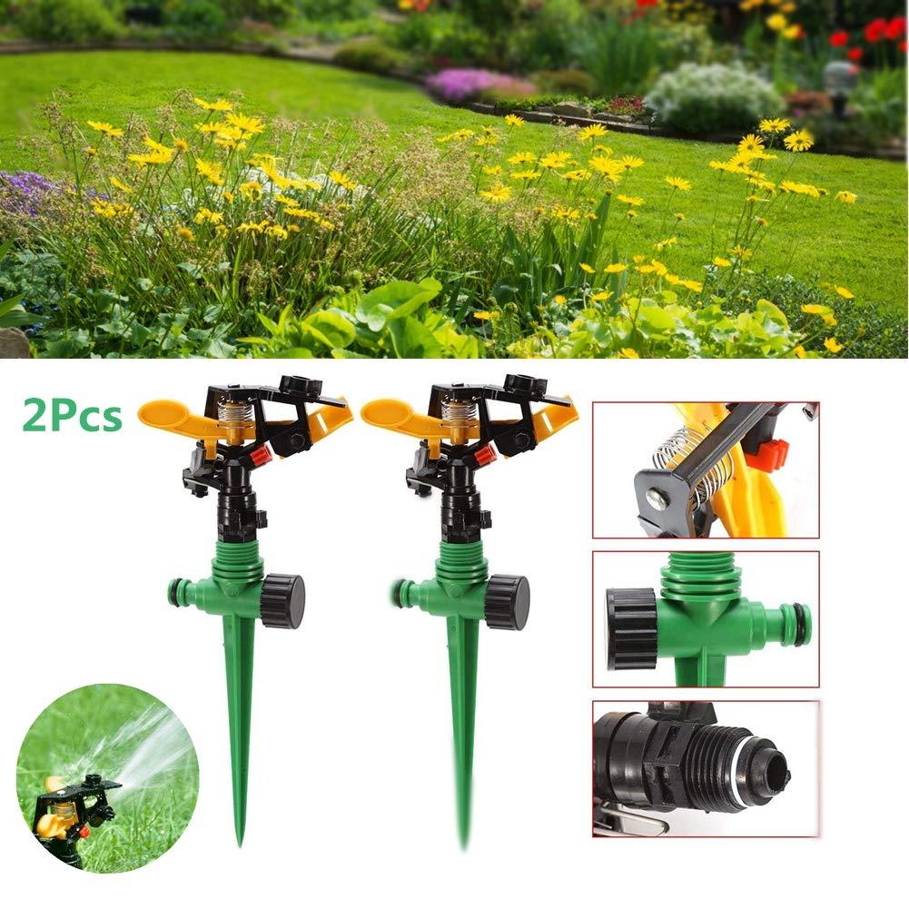 "3//4/"" Naan Water Lawn Sprinkler w// Stake Impact Adjustable Yard Garden Irrigation"