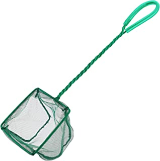 Pawfly 4 Inch Aquarium Net Fine Mesh Small Fish Catch Nets with Plastic Handle – Green