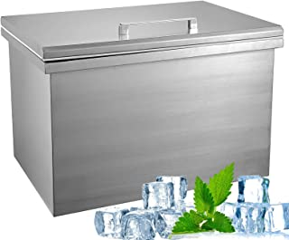 ETE ETMATE Outdoor Drop In Ice Chest Built-in stainless steel ice bucket with removable lid
