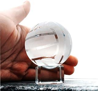 """والیز و F شفاف والیبال کریستال والیبال Paperweight با پایه شیشه ای پایه توپ ورزشی جمع آوری مجسمه های 2 """""""
