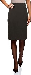 f02c997e2 oodji Collection Mujer Falda Recta de Cintura Alta