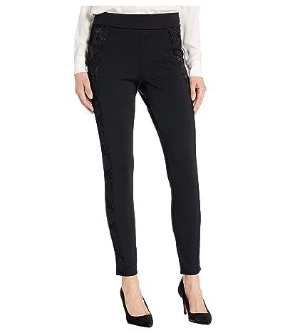 HUE Lace Tux Ponte High-Waist Leggings (Black) Women