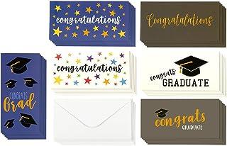 Best Paper Greetings Graduation Money Cards, 6 Unique Designs, 36-Pack, Includes Envelopes