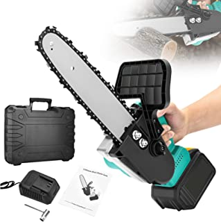 Cordless Electric Chainsaw,TTLIFE 900W Cordless Power Saw Small Handheld Cutting Machine, 21V Cordless Electric Saw, Pruni...