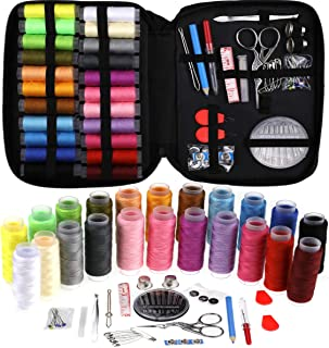 Looen Sewing Kits for Adults Professional,22 Spools of Thread Large,Thread Organizer Sewing Supplies with Scissors Crane Needles Buttons Thimble Tape for Beginner Emergency Mother's Gift