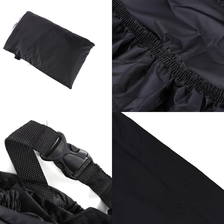 Surepromise Housse de Moto /Étanche avec Sac de Rangement Protection UV Pluie Bleu//Orange Noir