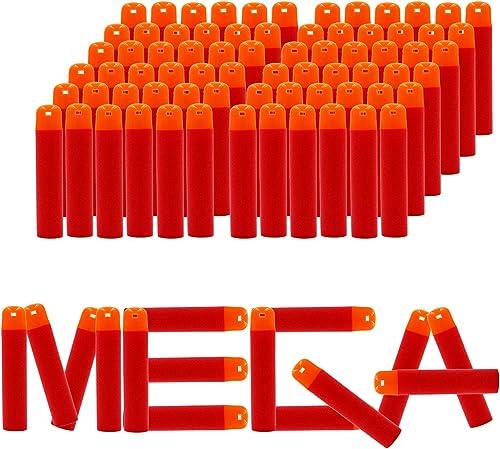 EKIND 9.5cm Foam Darts Compatible for Nerf N-Strike Elite Mega Series 72-Dart Refill Pack, Red