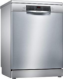 Bosch 6 Programmes Freestanding Dishwasher, Silver Inox - SMS46MI10M