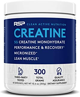 RSP Creatine Monohydrate – Pure Micronized Creatine Powder Supplement for Increased Strength, Muscle Recovery, and Perform...
