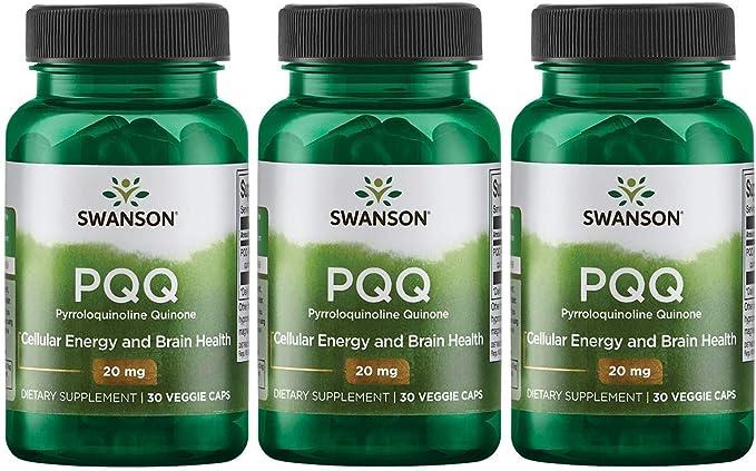 Swanson Pqq Pyrroloquinoline Quinone 20 mg 30 Veg Caps 3 Pack