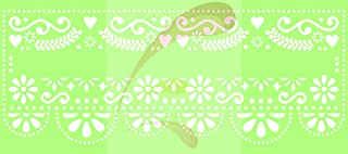 Papel Picado, Cinco de Mayo Festival, mexican, banner, Cookie stencil, Cake Stencil, Coffee Stencil, Candy Stencil, Cupcake stencil for Royal Icing, powders, sugars, edible glitters and Airbrushing