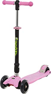 Zoomy Leisure Kids Maxi Scooter with LED Light-Up Wheels, Folding, Adjustable Height