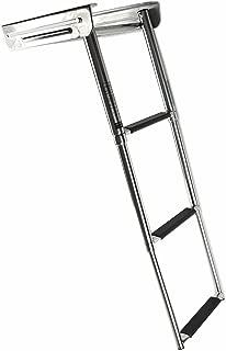 Marine City Stainless Steel 3-Step Under Platform Telescoping Ladder for Boat, Yacht