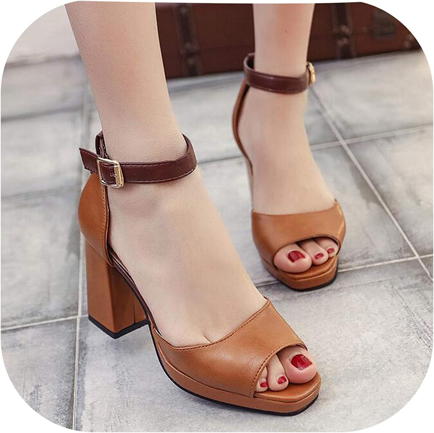 Alerghrg Sandals Fish Mouth Hollow Out Roma shoes d997