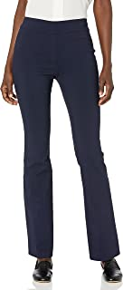 Lark & Ro Pantalones elásticos Barely Bootcut: Ajuste cómodo. Pantalones para Mujer