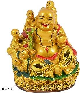 Reiki Crystal Products Vastu/Feng Shui Big Laughing Buddha with 5 Children - Porcelain