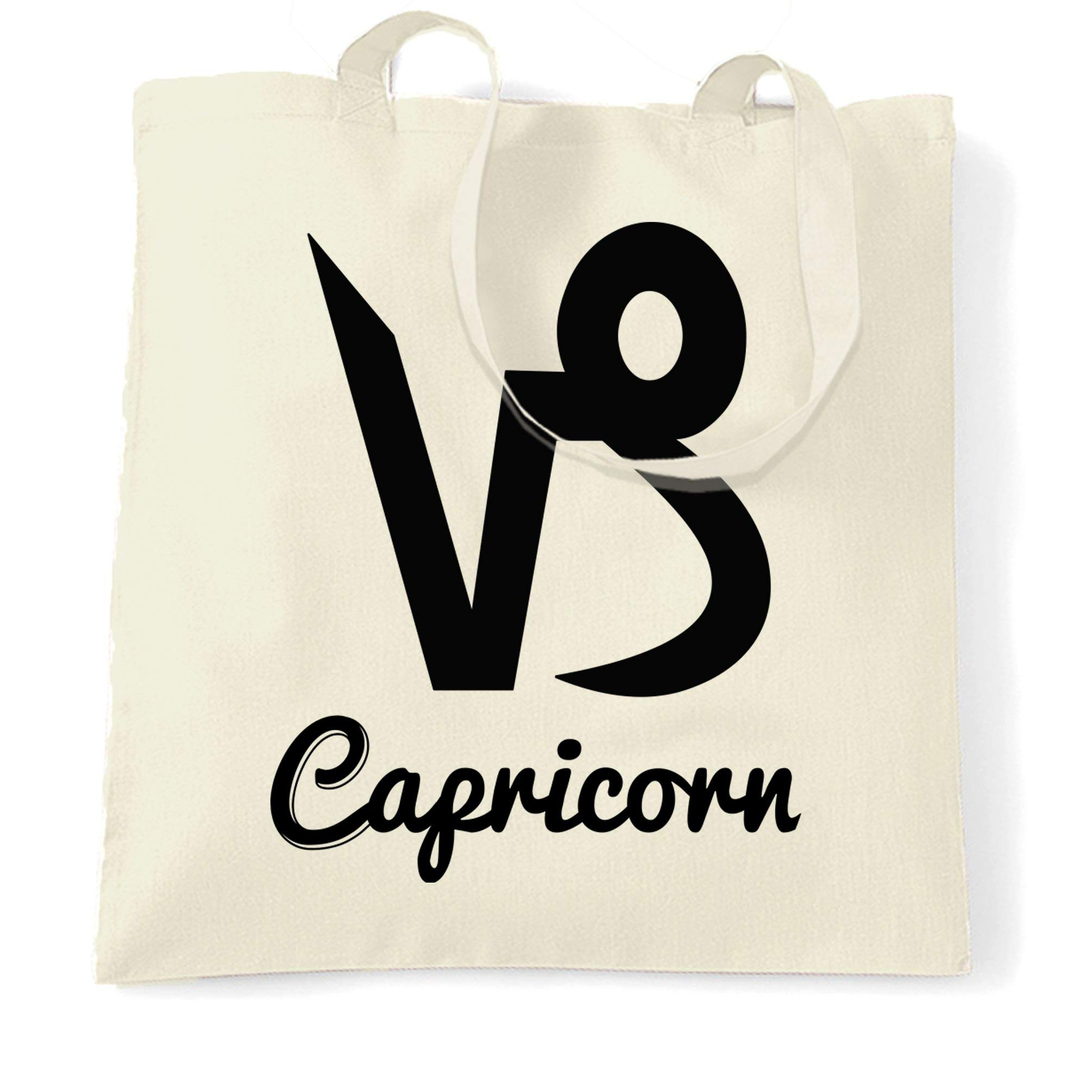 Details about  /Horoscope Tote Bag Capricorn Zodiac Star Sign Birthday Fortune Telling Cute