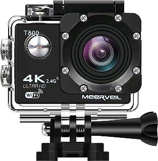 Deportes cámara de acción 4K WiFi Ultra HD Impermeable Deporte Cámara con lente gran angular de 170° con Sony Sensor 16MP- 2pcs batería baterías conexión Wifi y 2.4GHz remoto kits de accesorios