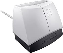 Cherry Electronics ST-1144UB Cherry Electronics, Pale Grey with Black Base, PCSC, Emv Smart Card Reader, USB, CAC and Fips, 201 Certified, Taa Compliant