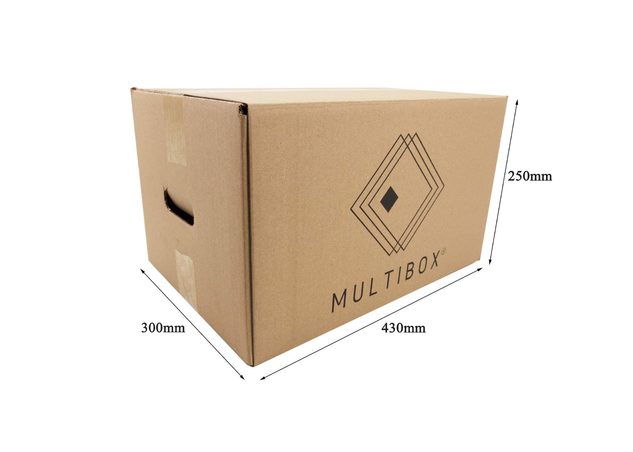 Pack 8 Cajas Cartón Mudanza y Almacenaje Con Asas Reforzado (51617) Resistente 430x300x250mm Fabricado En España diseño ergonómico Multiusos logística Mercancías Documentos Organizador Trastero: Amazon.es: Oficina y papelería