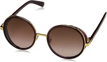 Jimmy Choo Andie/N/S 1KJ Gold Violet Plum Andie/N/S Round Sunglasses Lens Categ