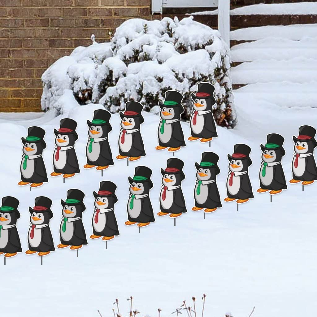 VictoryStore Yard Sign Outdoor New Free Shipping Lawn Decorations: Max 83% OFF Christ Penguins