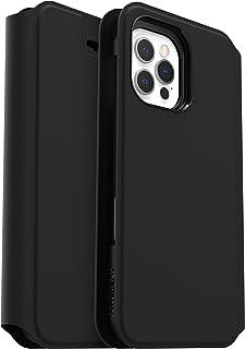 OtterBox voor Apple iPhone 13 Pro Max, Gestroomlijnde Zachte Val Bescherming Folio Hoesje, Strada Via Series, Zwart
