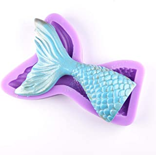 UG LAND INDIA Mermaid Fish Tail Mold, Silicone Fondant Molds with High Definition, Quality Cupcake DIY Topper Cake Decorat...