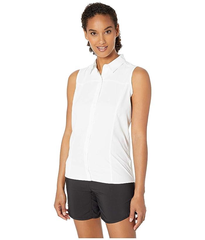 White Sierra Gobi Desert Sleeveless Shirt (True White) Women