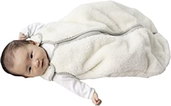 baby deedee Sleep Nest Teddy Baby Sleeping Bag, Ivory, Medium (6-18 Months)