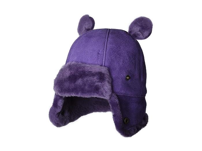 UGG Kids  Water Resistant Sheepskin Trapper with Ears Hat (Toddler/Little Kids) (Violet Bloom) Caps