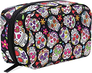 Skull Cosmetic Bag Travel Makeup Bag Protable Ladies Makeup Brush Bag
