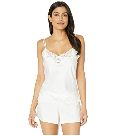LAUREN Ralph Lauren Signature Satin Lace Tap Set (Ivory) Women