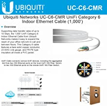 Ubiquiti UC-C6-CMR Unifiable Category Indoor Ethernet Cable