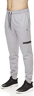 Men's Jogger Running Pants with Zipper Pockets - Athletic Workout Sweatpants