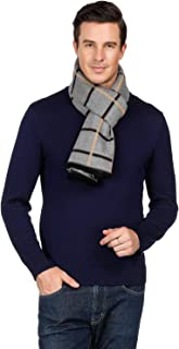 Coloris Edition Men Winter Scarf 100% Pure Cashmere Viscose Fashion Scarf for Men Boys Long Soft Warm Men Scarf for Gift