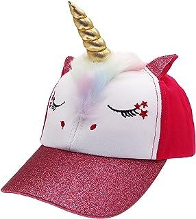 Kids Girls Unicorn Shiny Glitter Baseball Hats Trucker Hat Cap Adjustable Sun Hat for Girls Boys Toddler