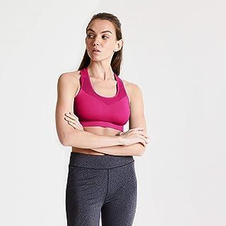 Dare 2b Women's DWU354 3BK40 Don't Sweat It' Seamless Quick Drying Sports Bra, Active Pink, XS