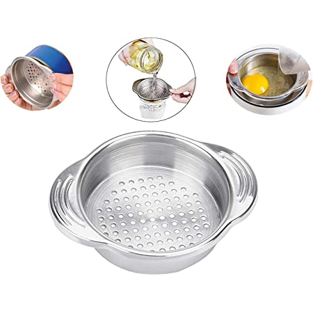 DLD Tuna Strainer Press, Tuna Can Strainer Food-Grade Stainless Steel Canning Colander for Regular-Size and Wide-Necked Tunas