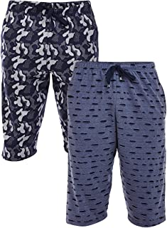 VIMAL JONNEY Ripped Look and Camouflage Print 3/4th/Capri for Men(Pack of 2)-D13_KF_NVY_ARM_NVY_02-P