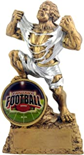 Decade Awards Football Monster Trophy - FFL Triumphant Beast Gridiron Award - 6.75 Inch Tall - Engraved Plate on Request
